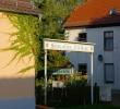 Einagang zm Biergarten Gasthof zur Burg in Görzke