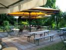 Sommerlicher Biergarten des Gasthofs Brüning in Görzke